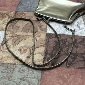 HOBO Bags - Hobo bronze/gold metal leather kisslock crossbody